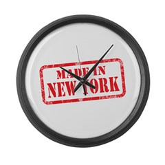 MADE IN NEW YORK Large Wall Clock