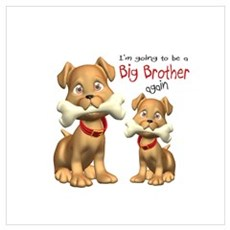 Dogs Big Brother Again Canvas Art