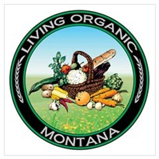 Living Organic Montana Poster