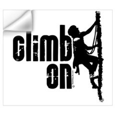 Climb On Wall Decal