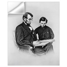 Lincoln Reading to Son Tod Wall Decal