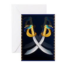 Crossed Cutlass Greeting Cards (Pk of 20)