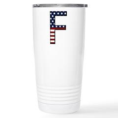 F Stars and Stripes Travel Mug