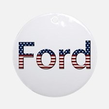 Ford Stars and Stripes Round Ornament