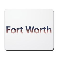 Fort Worth Stars and Stripes Mousepad