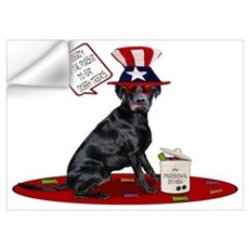 Black Lab 4th of July Wall Decal