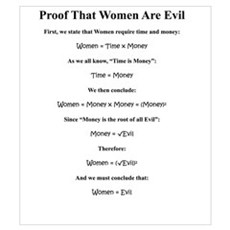 Proof: Women Are Evil Canvas Art