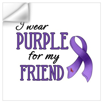 Wear Purple - Friend Wall Decal