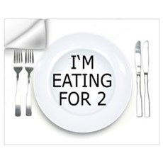 I'm eating for 2 - pregnancy Wall Decal