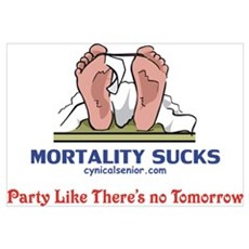 Mortality Sucks, Party Framed Print