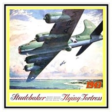 """Flying Fortress Engines Ad"" Framed Print"