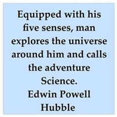 edwin hubble quotes Poster