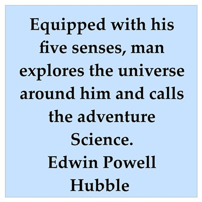 edwin hubble quotes Framed Print