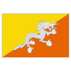 Bhutan Flag Wall Art Poster