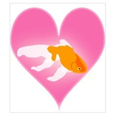 Goldfish Love Canvas Art