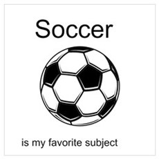 Soccer is my favorite subject Framed Print