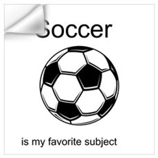 Soccer is my favorite subject Wall Decal
