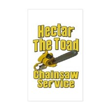 Hectar The Toad Chainsaw Service Bumper Stickers