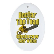 Hectar The Toad Chainsaw Service Ornament (Oval)