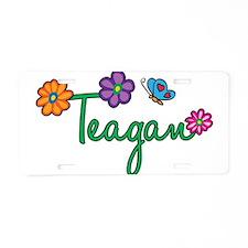 Teagan Flowers Aluminum License Plate