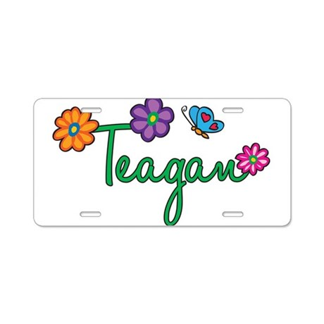 Teagan Flowers Aluminum License Plate