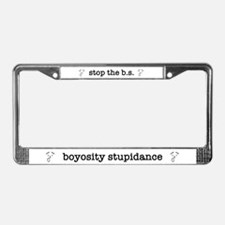 B.S. License Plate