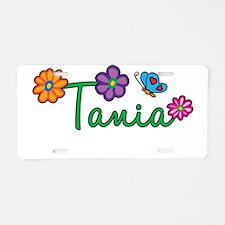 Tania Flowers Aluminum License Plate