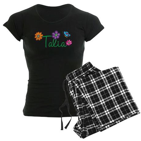 Talia Flowers Women's Dark Pajamas