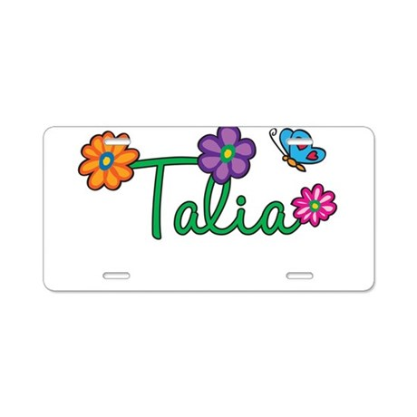 Talia Flowers Aluminum License Plate