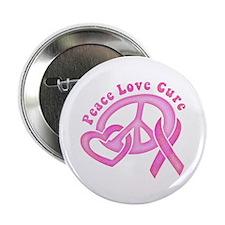 "Peace Love Cure 2.25"" Button"
