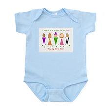 Diversity Jewish New Year Infant Bodysuit