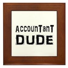 Cute Accountant Framed Tile