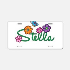 Stella Flowers Aluminum License Plate