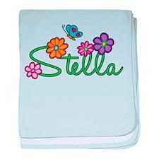 Stella Flowers baby blanket