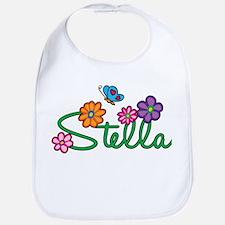 Stella Flowers Bib