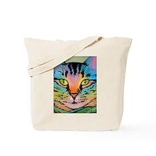 Tie-Dye Cat Tote Bag