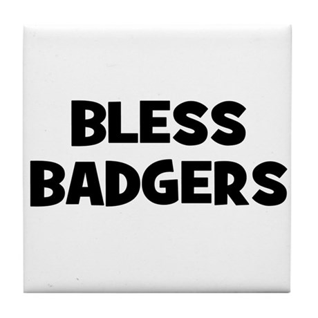 Bless Badgers Tile Coaster