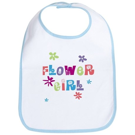Happy Flowergirl Bib