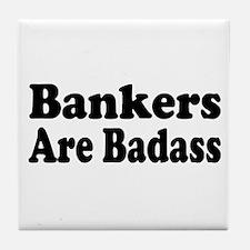 Cute Banker Tile Coaster