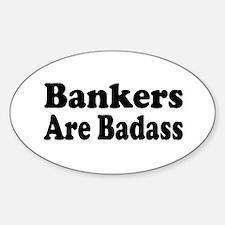 Cute Banker Sticker (Oval)