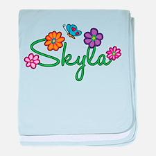 Skyla Flowers baby blanket