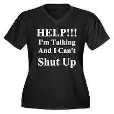 Cool Help Women's Plus Size V-Neck Dark T-Shirt