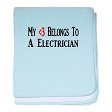 Funny Electrician baby blanket