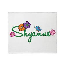 Shyanne Flowers Throw Blanket
