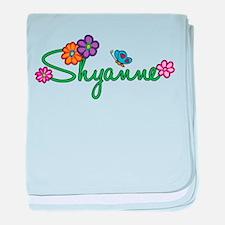 Shyanne Flowers baby blanket