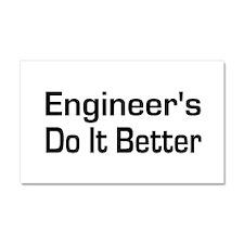 Cute Civil engineer Car Magnet 20 x 12