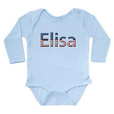 Elisa Stars and Stripes Long Sleeve Infant Bodysui