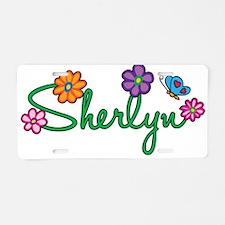 Sherlyn Flowers Aluminum License Plate