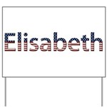 Elisabeth Stars and Stripes Yard Sign