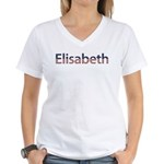Elisabeth Stars and Stripes Women's V-Neck T-Shirt